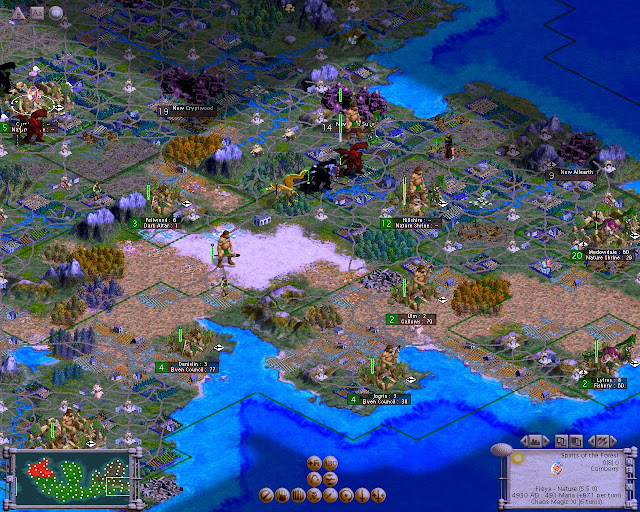 Civilization 3 - Master of Magic Mod Screenshot