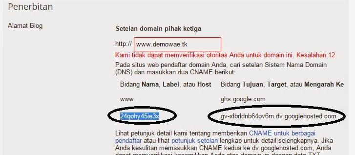 Cara Mengganti Domain Blog Ke Domain Gratisan (.tk)
