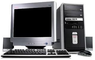 Foto de una computadora de escritorio