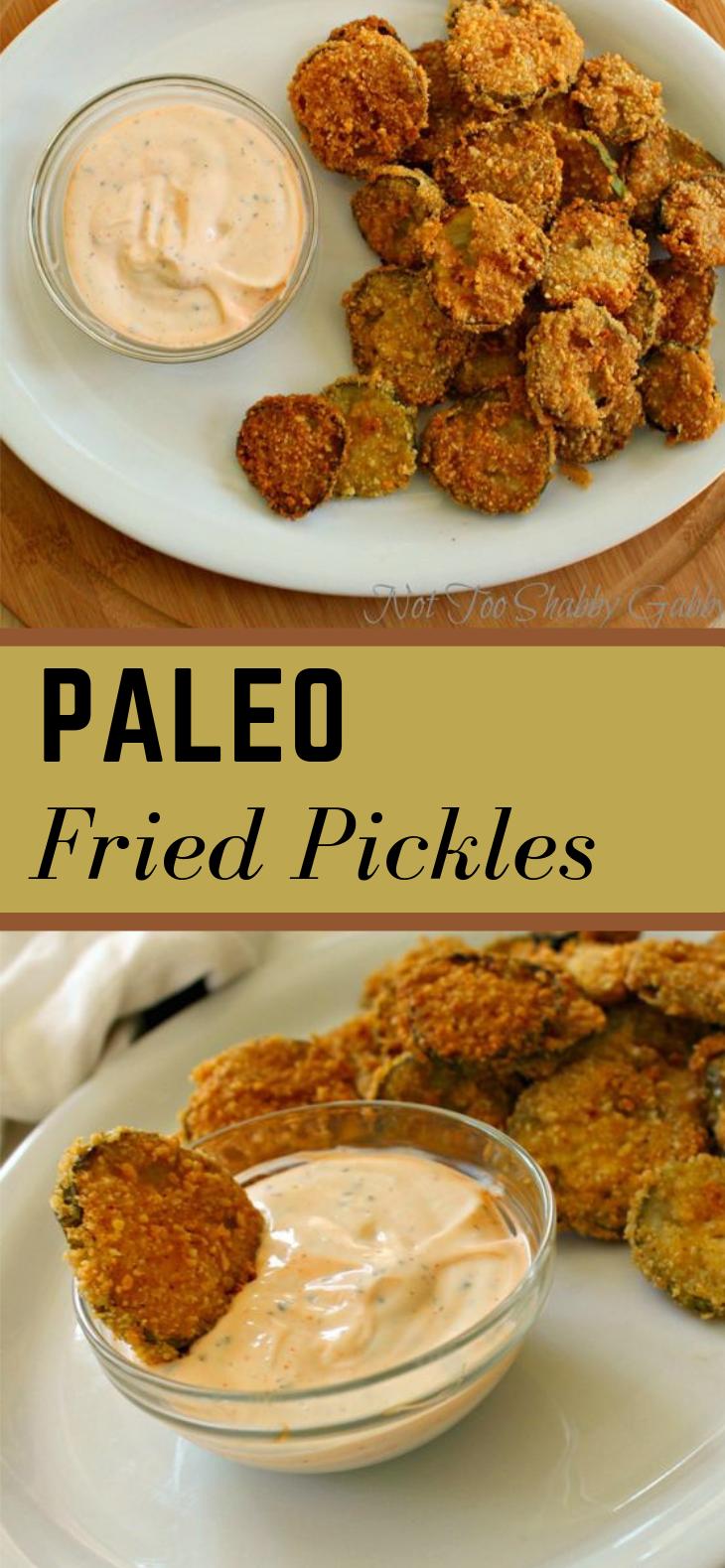 PALEO FRIED PICKLES #paleo #healthydiet