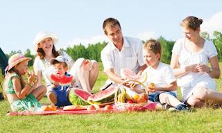 Пикник на природже всей семьей