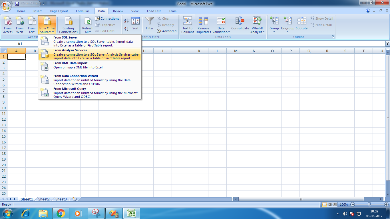 Create And Use Excel Pivot Table Report Based On Data Cube