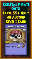 Skeletal Pirate - Wizard101 Card-Giving Jewel Guide