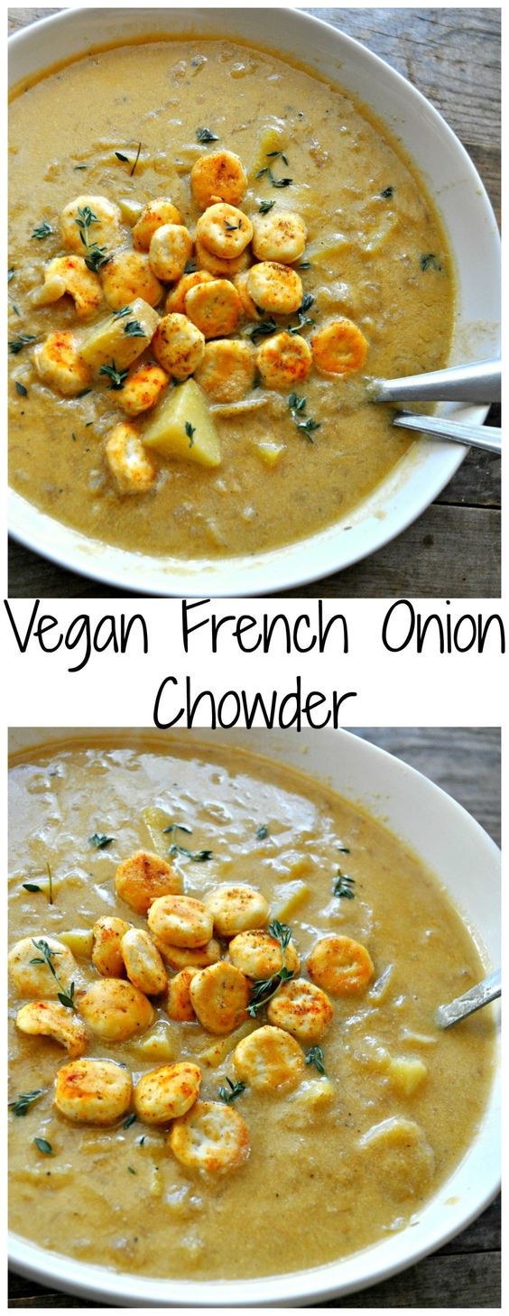 VEGAN FRENCH ONION CHOWDER