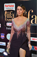 Hansika Motwani in Glittering Deep Neck Transparent Leg Split Purple Gown at IIFA Utsavam Awards 29.JPG