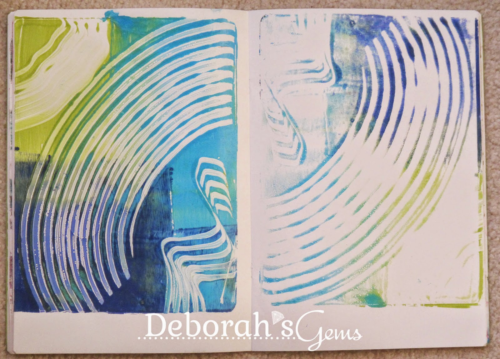 Gelli Journal 6 - photo by Deborah Frings - Deborah's Gems