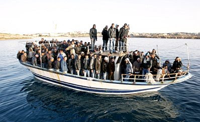 Lampedusa: boatload of refugees #5