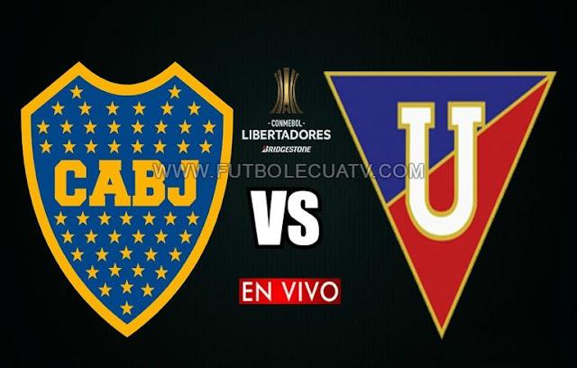 Boca Juniors se mide ante Liga de Quito en vivo ✅ a partir de las 17:15 hora local por los cuartos de final vuelta de la 🏆 Copa Libertadores a realizarse en el Estadio La Bombonera, siendo el árbitro principal Wilton Sampaio de nacionalidad brasilera con emisión del canal oficial Fox Sports.