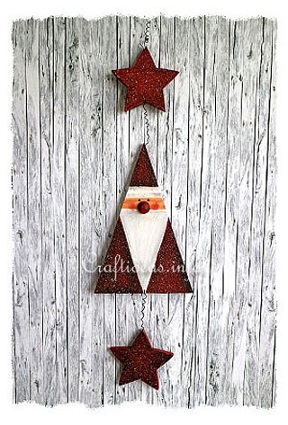 Wooden Santa Claus Garland or Mobile