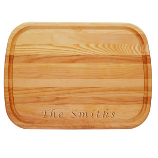 Personalized Cutting Boards for Mom - Everyday Board: Large Personalized Lucida Font