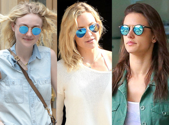 TREND ALERT - BLUE MIRROR SUNGLASSES