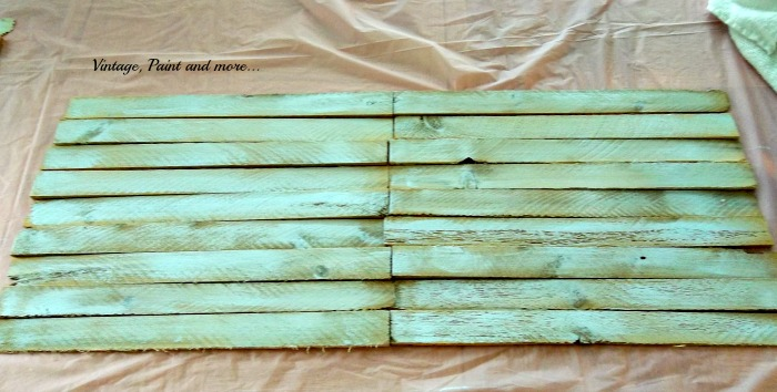 Vintage Paint and more... painted shims for art, wood slats for art