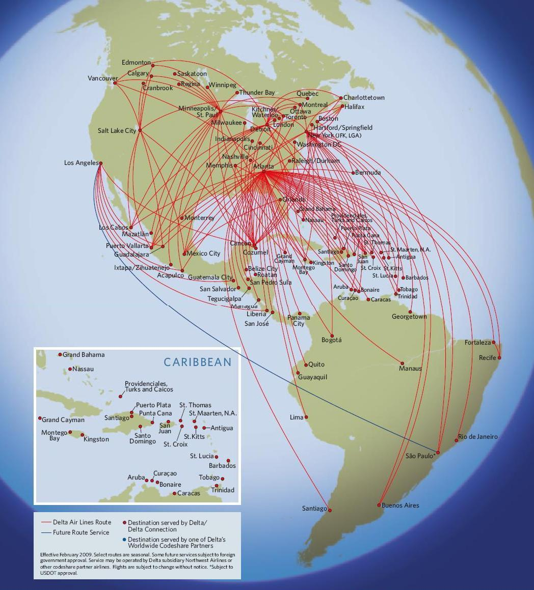 After Looking At The Maps It S Incredible How Extensive Their Worldwide Network Really Is In The U S I Wonder How Long Cvg Or Mem Will Survive As Hubs