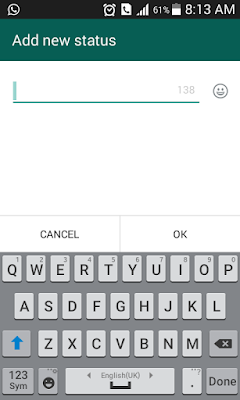 How to Set Empty or Blank WhatsApp Status