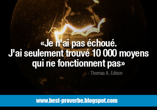 Proverbe Citations, Échec, Succés,