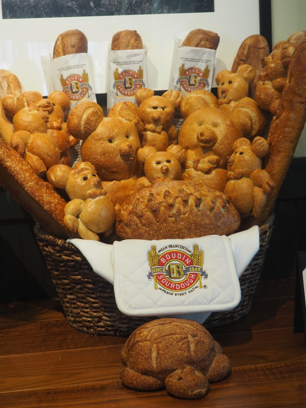 San Francisco sourdough bread - teddies and other shapes