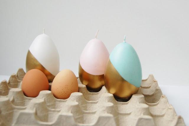 شمع ملون على شكل البيض