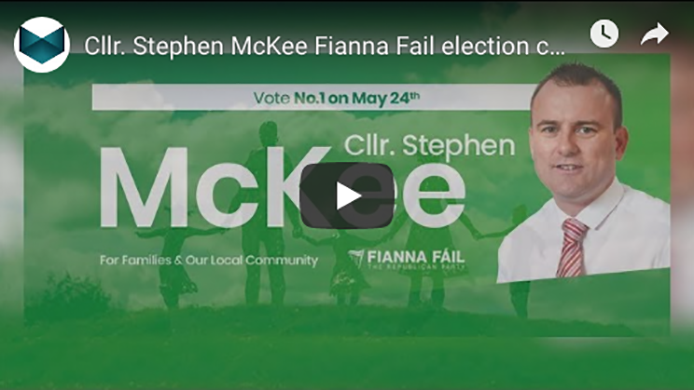 Cllr. Stephen McKee Fianna Fail election campaign PROMOTIONAL VIDEO