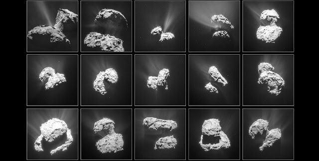 Views of the comet form Rosetta. Credit: ESA