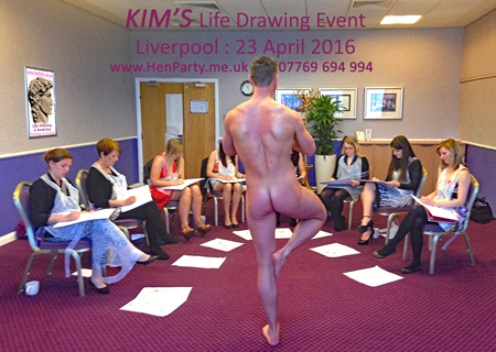 nude life drawing, naked male model, hen party me uk, hen party, hen do, liverpool