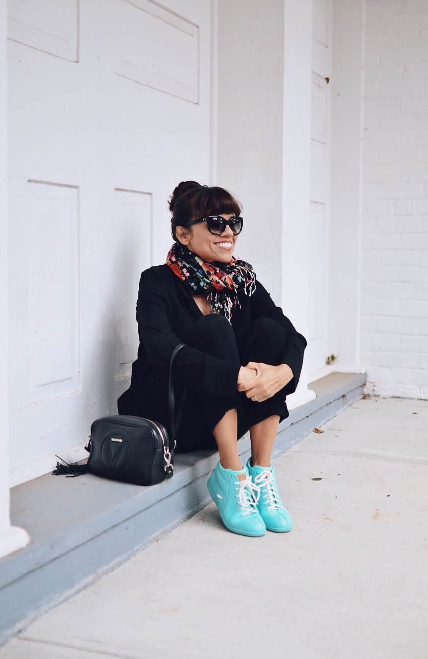 Colorful sneakers street style