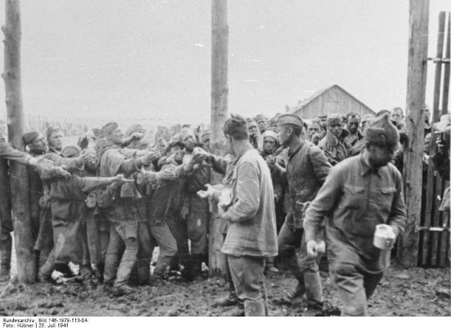 POW camp for Soviet soldiers in Ukraine, 28 July 1941 worldwartwo.filminspector.com