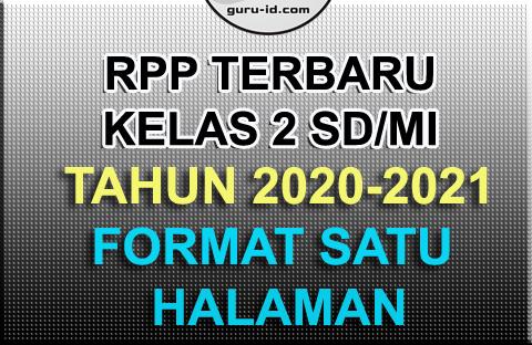 GAMBAR rpp kelas 2 terbaru 2020-2021