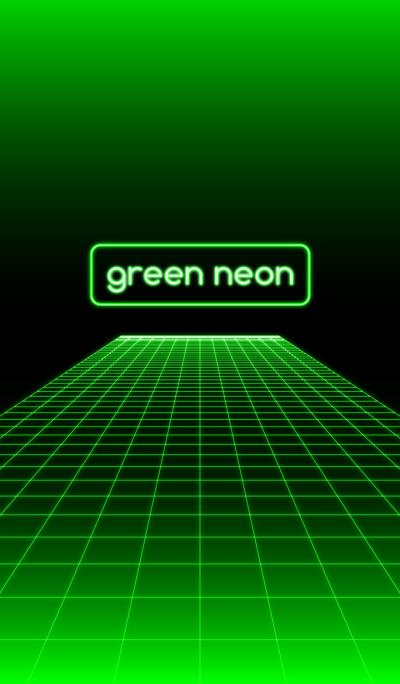 綠色霓虹燈