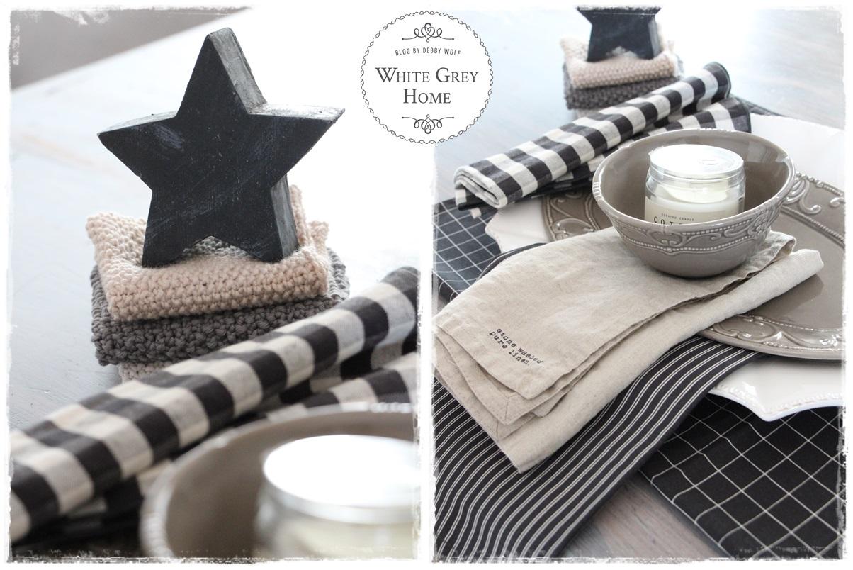White Grey Home Tischdeko Fur Die Vorweihnachtszeit