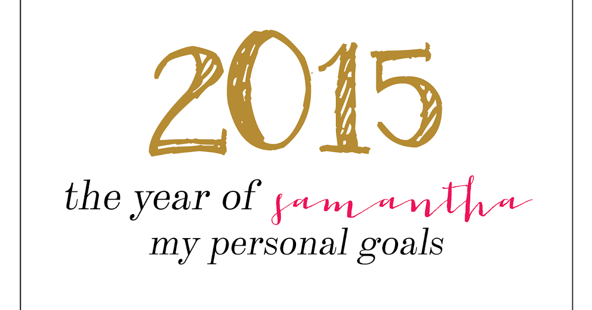 my individual objectives just for 2015
