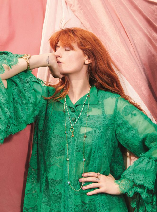 Florence Welch appear in Elle Magazine, UK Edition