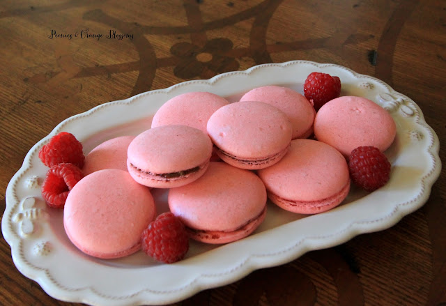 Raspberry Chocolate Hazelnut macaron recipe!