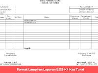 Format Lampiran Laporan BOS K4 Kas Tunai