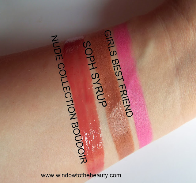 revolution lip glosses review swatches
