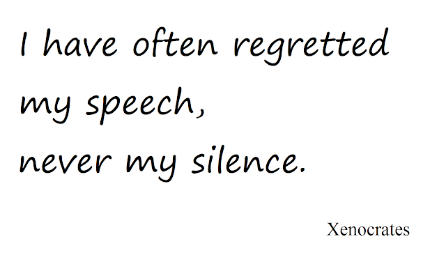 Quotes on silence by xenocrates