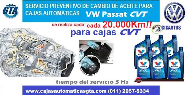Servicio para caja automatica CVT