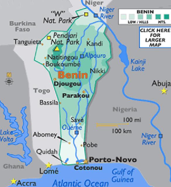 Gambar Peta Negara Benin