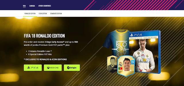 Perbandingan Produk Edisi FIFA 18 Terbaru