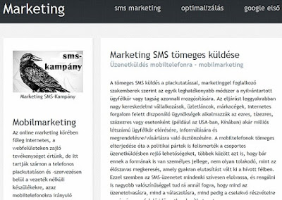 mobil marketing: tömeges sms