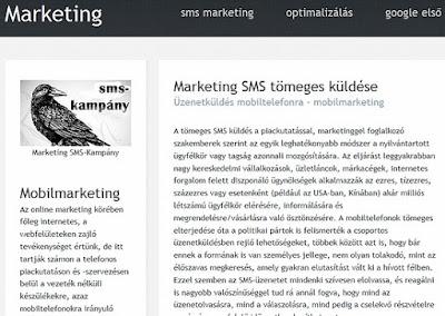 mobil marketing: tömeges sms