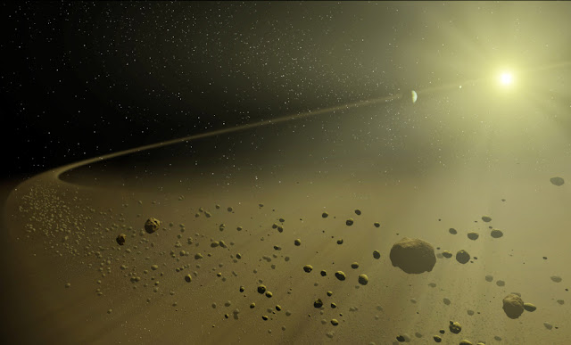 Esteira de detritos ao redor de HD 172555 - NASA