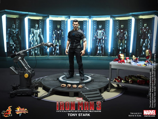 Hot Toys Tony Stark Armor testing, Agent Coulson and