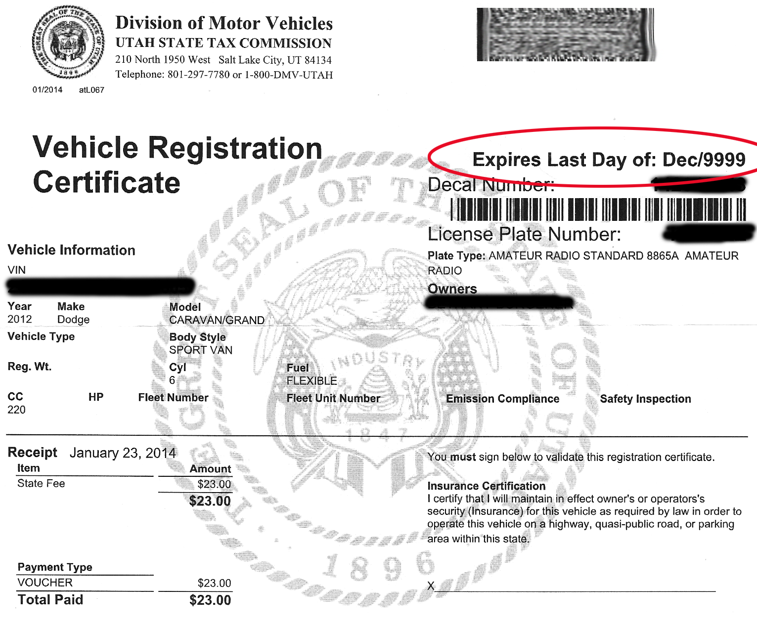 Utah State Tax Commission Division Of Motor Vehicles ...
