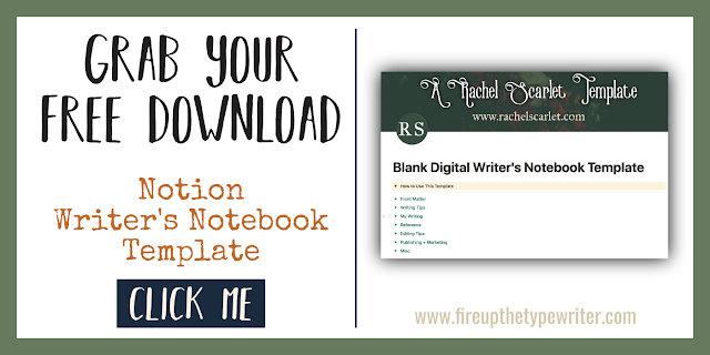 My Writer's Notebook Tour + Free Notion.so Template | www.fireupthetypewriter.com #AmWriting #Notion #WritingBinder #WritersNotebook