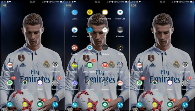Download Tema Oppo A39 Terbaru dan Terkeren - Real Madrid