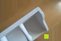 Haken: Küchenschrank Wandschrank Hängeschrank 4 Haken 4 Schubladen 2 Glastüren Schrank