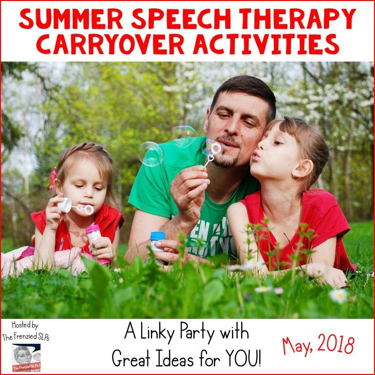 Summer Speech Therapy Carryover Activities: A linky of activities to have your speech and language students do to prevent the summer slide.