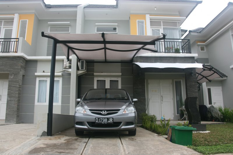 Model Kanopi Baja Ringan Minimalis 40 Gambar Rumah   Desainrumahnya.com
