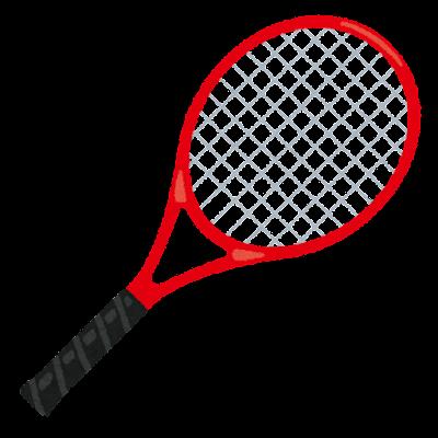 テニスのラケットのイラスト