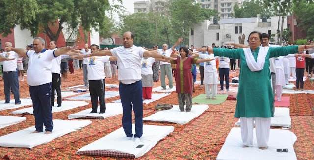 Yoga talents show on Yoga Day at YMCA University